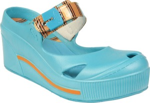 Dr. Scholl's Disco in Surf Strip PU