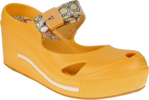 Dr. Scholl's Disco in Yellow Vintage Floral