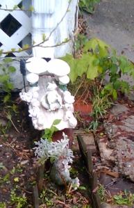 Frog sculpture found on a walk