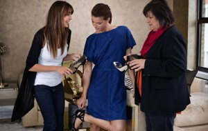 Jimmy Choo fitting with H&M's Margareta van den Bosch