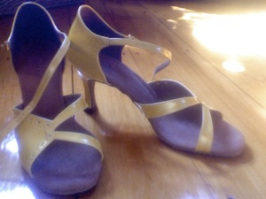 My Yellow Burju Heels Wistfully Wishing to Go For a Spin