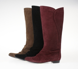 NINE WEST SUEDE TALL FLAT BOOTS